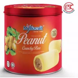 image of [FSC] Mybizcuit Peanut Crunchy Bar 308gm (Tin)