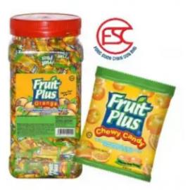 image of [FSC] Fruit Plus Orange Flavour Chewy Candy 350pieces