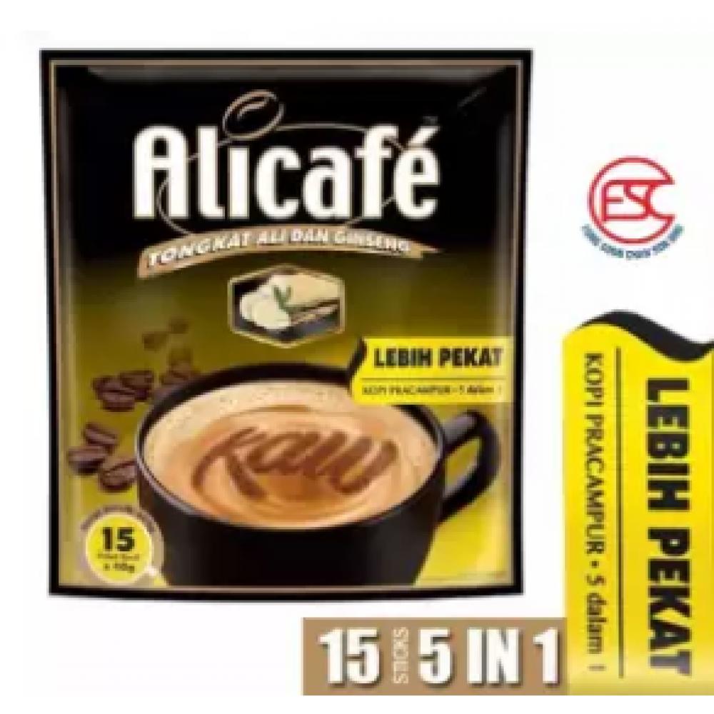 [FSC] Alicafe Instant 5 in 1 Tongkat Ali and Ginseng Coffee(Lebih Pekat) 15sachet X 40gm