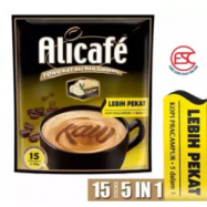 image of [FSC] Alicafe Instant 5 in 1 Tongkat Ali and Ginseng Coffee(Lebih Pekat) 15sachet X 40gm