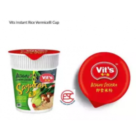 image of [FSC] Vit's Rice Vermicelli Vegetarian Clear Soup (Cup) 55gm x 6cups