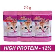 image of [FSC] AlleyCat Wet Cat Food Pouch Bag 12pck x 70gm