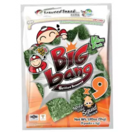 image of [FSC] Tao Kae Noi Big Bang Grilled Squid Seaweed 60gm x 2pkt
