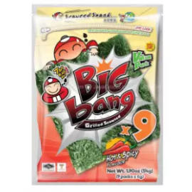 image of [FSC[ Tao Kae Noi Big Bang Hot & Spicy Seaweed 60gm x 2pkt