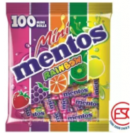 image of [FSC] Mentos Chewy Candy Mini Stick Rainbow Fruit Flavours 100stick x 10gm