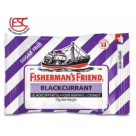 image of [FSC] Fisherman Friend Sugar Free Blackcurrant 25gm x 6pkt