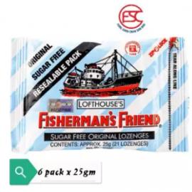 image of [FSC] Fisherman Friend Sugar Free Original Mint 25gm x 6pkt
