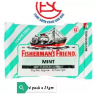 image of [FSC] Fisherman Friend Sugar Free Mint 25gm x 6pkt