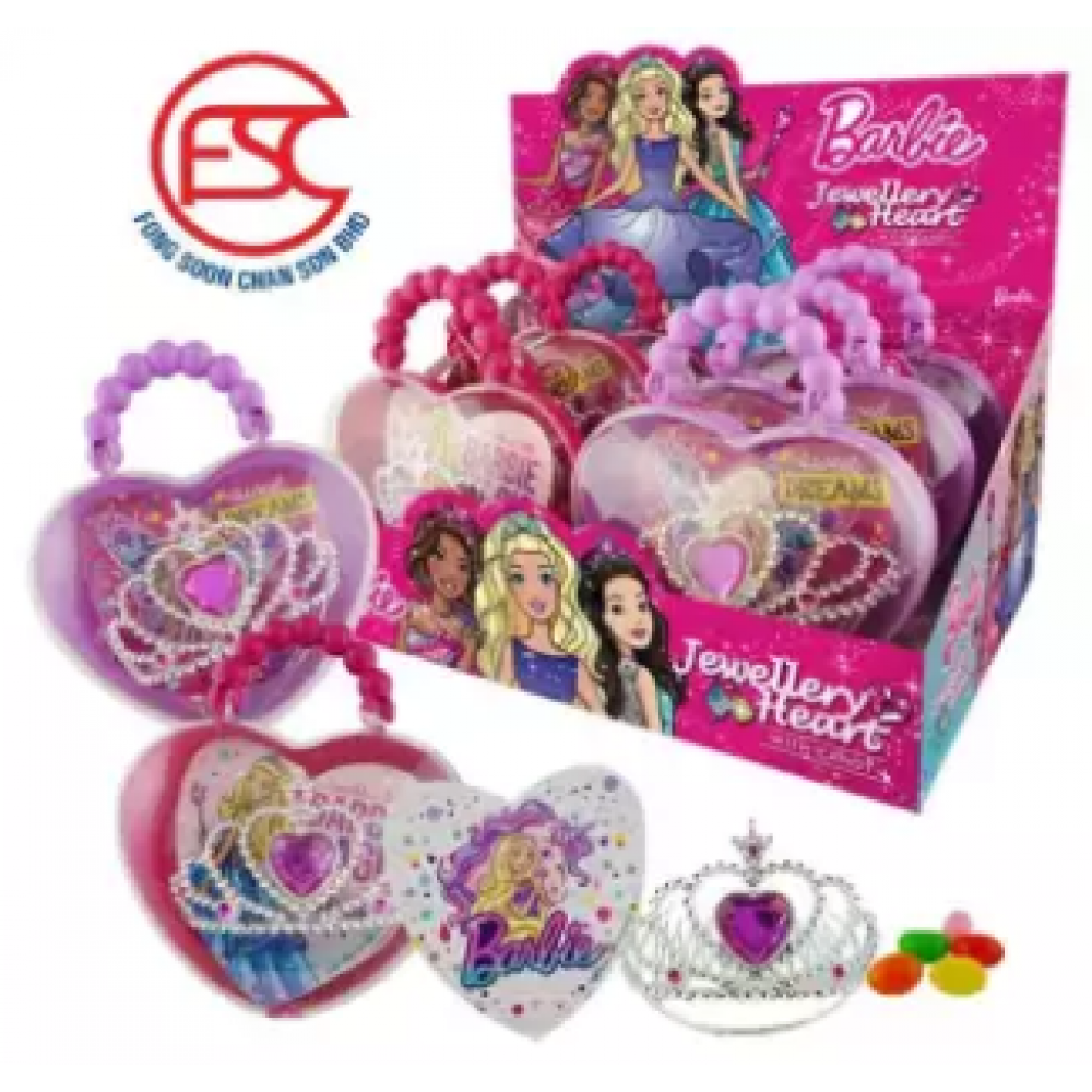 [FSC] Barbie Jewellery Toy With Heart Shape Case 6pieces