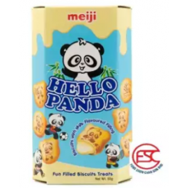 image of Meiji Hello Panda biscuits 43gm x 10boxes Milk Flavours
