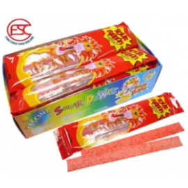 image of [FSC] Beardy Sour Ribbon Strawberry Flavours 40gm x 12pieces