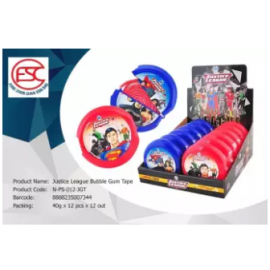 image of [FSC] Justice League Bubble Gum Tape 40gm x 12pieces