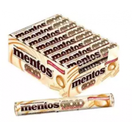 image of [FSC] Mentos White Caramel & Chocolate Chewy Candy 18stick x 37gm