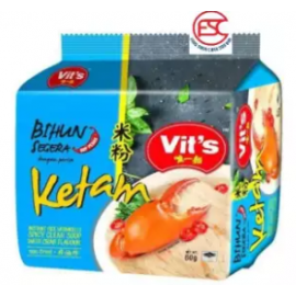 image of [FSC] Vit's Rice Vermicelli Crab Spicy Clear Soup 55gm x 5pkts x 6bag (Carton)