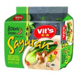 image of [FSC] Vit's Rice Vermicelli Vegetarian Clear Soup 55gm x 5pkts x 6bag (carton)