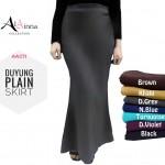 DUYUNG SKIRT PLAIN AL AINNA AAC71 // HOT FLORAL READY STOCK KAIN KULIT LAICI