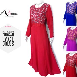 image of AL AINNA DRESS FURSAN AAC107 [RED] JUBAH READY STOCK SALE