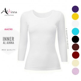 image of INNER BAJU COTTON AL AINNA AAC90 SHORT// READY STOCK S - XL MUSLIMAH TEE SHIRTS