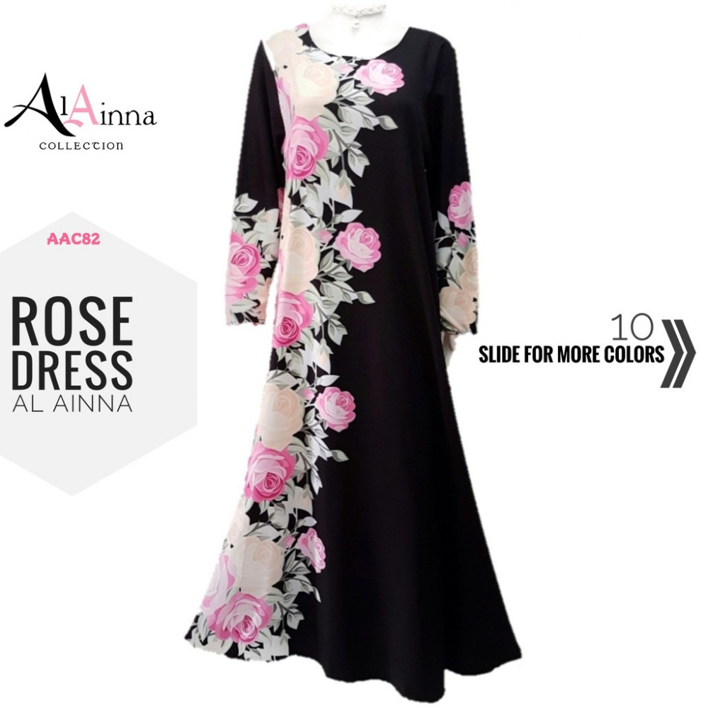 ROSE DRESS AL AINNA AAC82 // READY STOCK BAJU RAYA