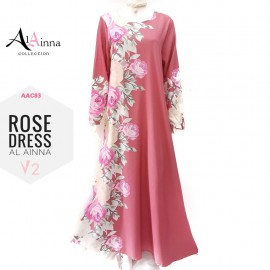 image of ROSE DRESS V2 AL AINNA AAC83 // READY STOCK BAJU RAYA