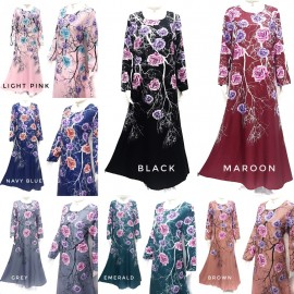 image of ADELIA DRESS JUBAH AAC06 // READY STOCK BAJU RAYA HOT SELLER