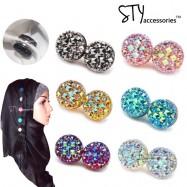image of Irene Magnetic Hijab Brooch Pin Tudung Round Headscarf Abaya Clasp Shawl Scarf
