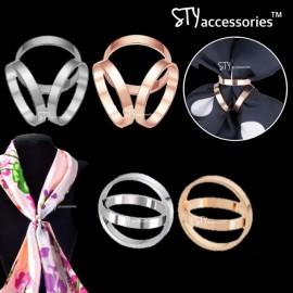 image of Safeya Scarves Ring Scarf Buckle Shawl Ring Bawal Tudung Brooches Brooch TriRing