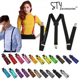image of Taylor Unisex Women Men Elastic adjustable suspender braces Y-Shape Clip on
