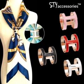 image of Stefanie Scarf Ring Scarves Buckle Shawl Ring Bawal Tudung Brooch Butang Tudung