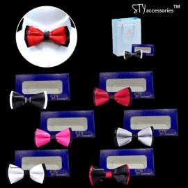 image of Terens Adjustable Men Bow Tie Man Bows Ties Necktie Neck Tie Nearwear Tali leher