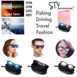 image of Gideon Eyewear Sunglasses UV400 Polarised Unisex Cermin mata hitam Birthday Gift