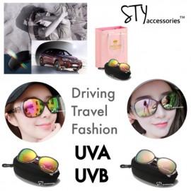 image of Gennis Eyewear Sunglasses UV400 Polarised Women Cermin mata hitam Birthday Gift