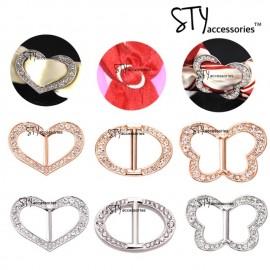 image of Sadaf Scarves Ring scarf Buckle Shawl Ring Bawal Tudung Brooch Flower King