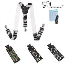 image of Tayte Unisex Women Men Elastic adjustable suspender braces Y-Shape Clip on