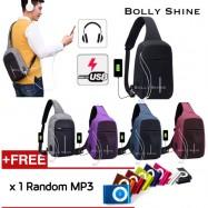 image of Bale USB Sling Bag Unisex Bag Crossbody Bag Women Bag Men Bag