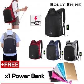 image of Bali Double Anti-theft USB Laptop Backpack Bag Unisex Women Man LaptopBags Baibu