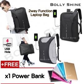 image of Basil USB Laptop Bag Unisex Men Women Laptop beg Urban Fashion Backpack Beg Bags