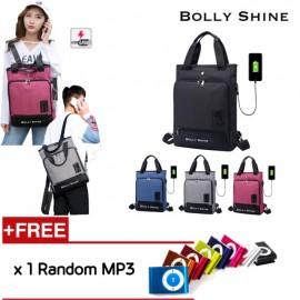 image of Benson USB Laptop Bag Unisex Men Women Backpack 2way Beg Bags handcarry Begs bag