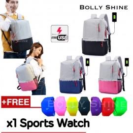 image of Barry USB Laptop Bag Unisex Men Women Laptop beg Urban Fashion Backpack Beg Bags
