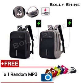 image of Joel Laptop Backpack Bag with Headphone Plug Hole and Combination Lock