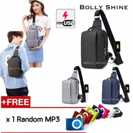 image of Balen USB Sling Bag Unisex Bag Crossbody Bag Women Bag Men Bag