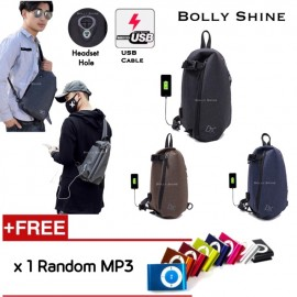 image of Ben USB Headset Hole Sling Bag Crossbody begs Men Beg bags Fashion Korea
