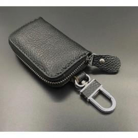 image of Genuine Leather Car Key Chain Car Romove Key Chain