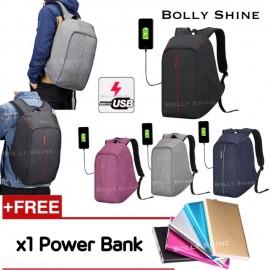 image of Benjamin USB Laptop Backpack Unisex Women Men Backpacks Beg Bags Anti Theif Bag