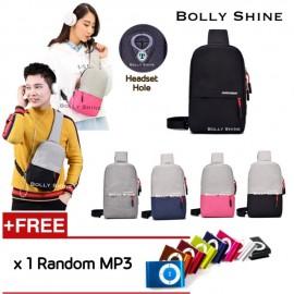 image of Bently Headset Hole Sling Bag Unisex Bag Crossbody Bag Women Bag Men Beg begs