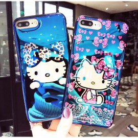 image of TPU Iphone 7 7+ 8 8+ x Hello kitty Casing Blue Ray