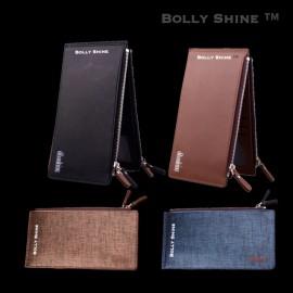 image of John Men Long Wallet Zip Wallet Card Holder Wallet Dompet Panjang