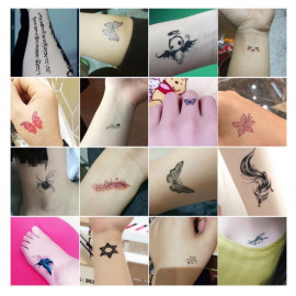 image of 可愛小清新藝妓紋身貼 / Cute little fresh geisha tattoo stickers