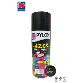 image of NIPPON PYLOX LAZER SPRAY PAINT (47-MATT BLACK) - 400cc