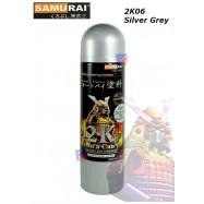 image of Samurai Spray Paint 2K06 Epoxy Metal Primer-400ml(Silver Grey)